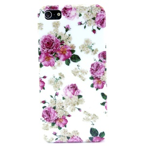 Blooming Flowers IMD Glossy Plastic Phone Cover for iPhone 5s 5