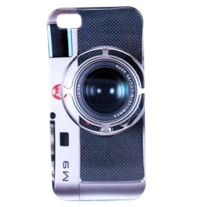 Camera Pattern IMD Glossy Plastic Back Case Cover for iPhone 5s 5