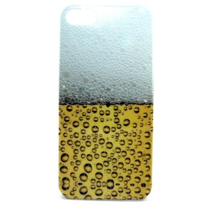 Vivid Beer Foam IMD Glossy Plastic Back Skin Shell for iPhone 5s 5