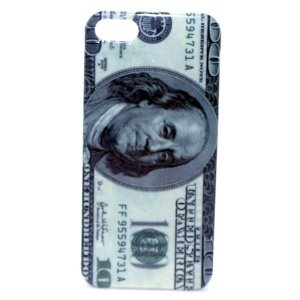 One Hundred Dollar IMD Glossy Plastic Back Case for iPhone 5s 5