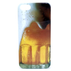 Overflowing Beer IMD Glossy Plastic Back Cover for iPhone 5s 5