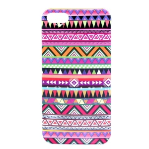 IMD Glossy Plastic Back Case for iPhone 5s 5 - Tribal Geometric Pattern