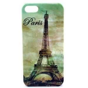 IMD Glossy Plastic Skin Shell for iPhone 5s 5 - Paris Eiffel Tower Pattern