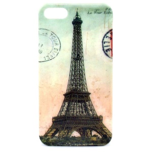 IMD Glossy Plastic Skin Case for iPhone 5s 5 - Famous Eiffel Tower Pattern
