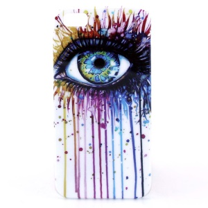 IMD Glossy Plastic Skin Case for iPhone 5s 5 - Eye Painting Pattern