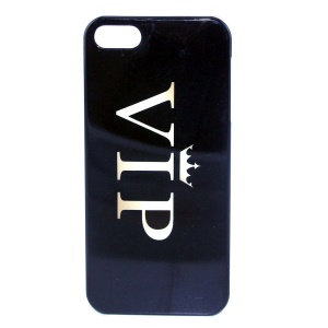 IMD Glossy Plastic Hard Case for iPhone 5s 5 - Crown VIP Pattern