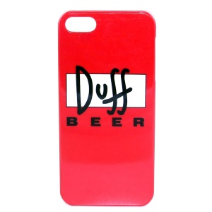 IMD Glossy Plastic Hard Cover for iPhone 5s 5 - Duff Beer Pattern