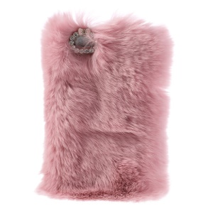 Rose Stylish Genuine Rabbit Fur Hard Case for iPhone 5s 5