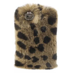 Brown for iPhone 5s 5 Stylish Warm Genuine Rabbit Fur Hard Cover