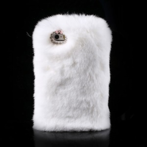 White for iPhone 5s 5 Stylish Warm Genuine Rabbit Fur Hard Shell