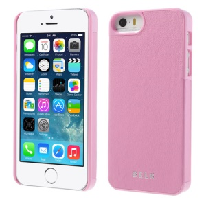 BELK for iPhone 5s 5 PU Leather Coated Hard Protector Cover - Pink