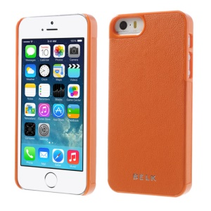 BELK for iPhone 5s 5 PU Leather Coated Hard Phone Cover - Orange