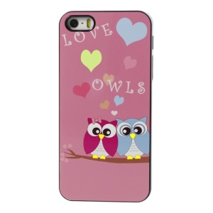 Two Owls Aluminum Metal Coated Hard Plastic Cover for iPhone 5s 5