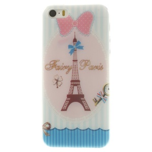 Eiffel Tower & Bowknot Super Slim TPU Case Accessory for iPhone 5s 5