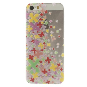 Colorful Cross Pattern Super Slim TPU Cover for iPhone 5s 5