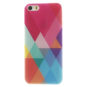 Colorized Geometric Pattern Super Slim TPU Cover Shell for iPhone 5s 5