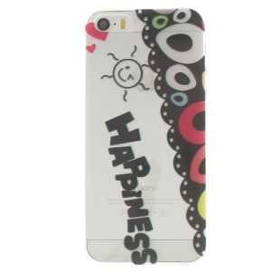 Smiling Face Happiness Pattern Super Slim TPU Gel Cover for iPhone 5s 5