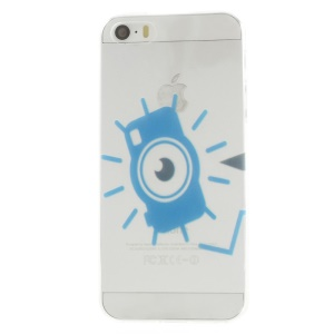 Blue Eye Pattern Super Slim TPU Protective Cover for iPhone 5s 5