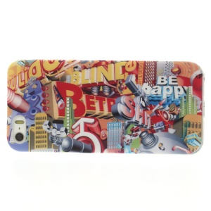 English Letters & Building Pattern Super Slim TPU Skin Case for iPhone 5s 5