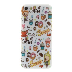 TPU Skin Back Case for iPhone 5s 5 - Sweet Coffee & Girl