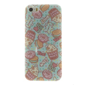 TPU Skin Back Cover for iPhone 5s 5 - Delicious Food Pattern