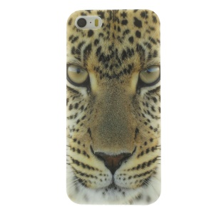 TPU Protective Shell for iPhone 5s 5 - Leopard Face Pattern