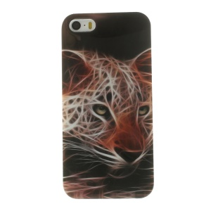 TPU Protective Case for iPhone 5s 5 - Neon Jaguar Pattern