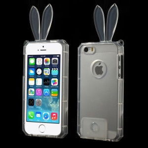 Rabbit Shaped Crystal TPU Case for iPhone 5s 5 - Transparent