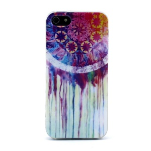 Protective TPU Gel Back Shell for iPhone 5s 5 - Watercolor Dream Catcher