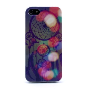 Protective TPU Gel Skin Shell for iPhone 5s 5 - Colorful Dream Catcher
