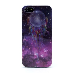 Protective TPU Gel Back Case for iPhone 5s 5 - Dream Catcher in Starry Sky