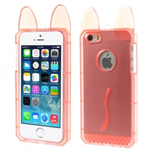 Rabbit Shaped Soft TPU Cover for iPhone 5s 5 - Red