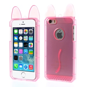 Rabbit Shaped Soft TPU Cover for iPhone 5s 5 - Pink