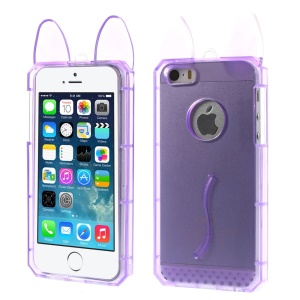 Rabbit Shaped Soft TPU Case Shell for iPhone 5s 5 - Purple