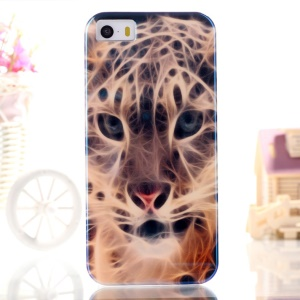Blue-ray IMD TPU Shell for iPhone 5s 5 - Fierce Leopard