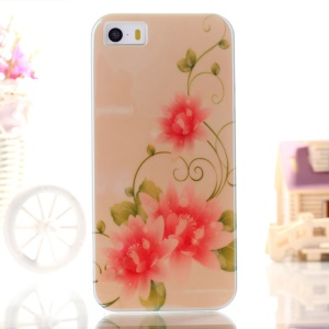 Blue-ray IMD TPU Skin Shell for iPhone 5s 5 - Beautiful Flowers