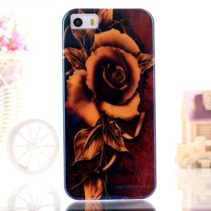 Blue-ray IMD TPU Gel Phone Case Shell for iPhone 5s 5 - Blooming Flower