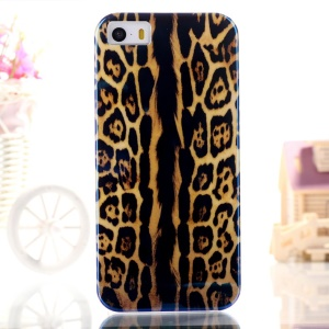 Blue-ray IMD TPU Gel Phone Shell for iPhone 5s 5 - Leopard Print