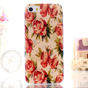 Blue-ray IMD TPU Gel Phone Case for iPhone 5s 5 - Pretty Blooming Flowers