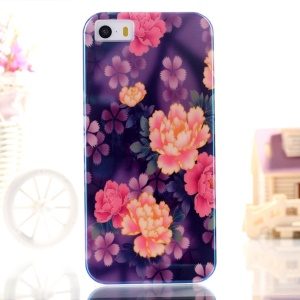 Blue-ray IMD TPU Protective Cover for iPhone 5s 5 - Fresh Flowers