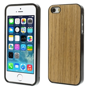 Real Wood Skin Soft TPU Case for iPhone 5s 5 - Light Brown
