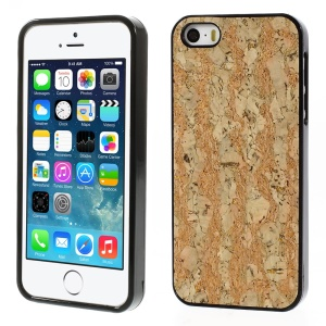 Crackled Wood Texture TPU Phone Cover for iPhone 5s 5 - Orange