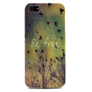 Flying Birds and Be Free TPU Case for iPhone 5s 5