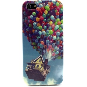 Colorized Hot Air Balls TPU Shell Case for iPhone 5s 5