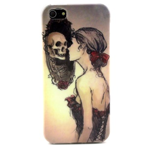 Sexy Beauty & Cool Skull Head TPU Case Shell for iPhone 5s 5
