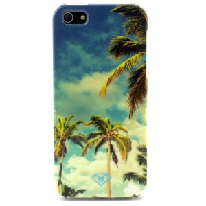 Coconut Trees Head TPU Back Case for iPhone 5s 5