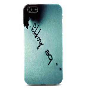 Quote Be Happy Head TPU Case Cover for iPhone 5s 5