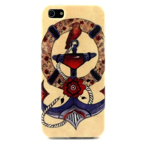 Anchor & Bird Head TPU Cover Shell for iPhone 5s 5