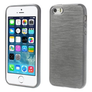Grey Brushed TPU Gel Case for iPhone 5s 5