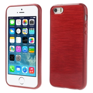 Red Brushed TPU Shell Case for iPhone 5s 5